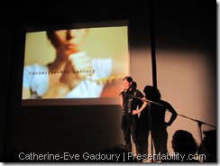 Catherine-Eve Gadoury at Pecha Kucha | Presentability.com by Denis Francois Gravel