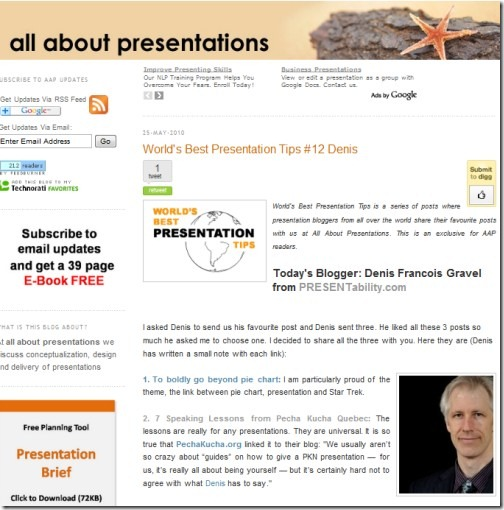 Link to the post: World Best Presentation Tips