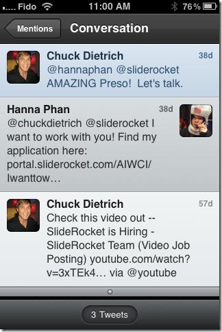Tweet-Chuck Response