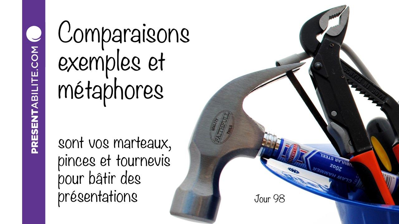 Comparaisons, exemples et métaphores sont vos marteaux ...