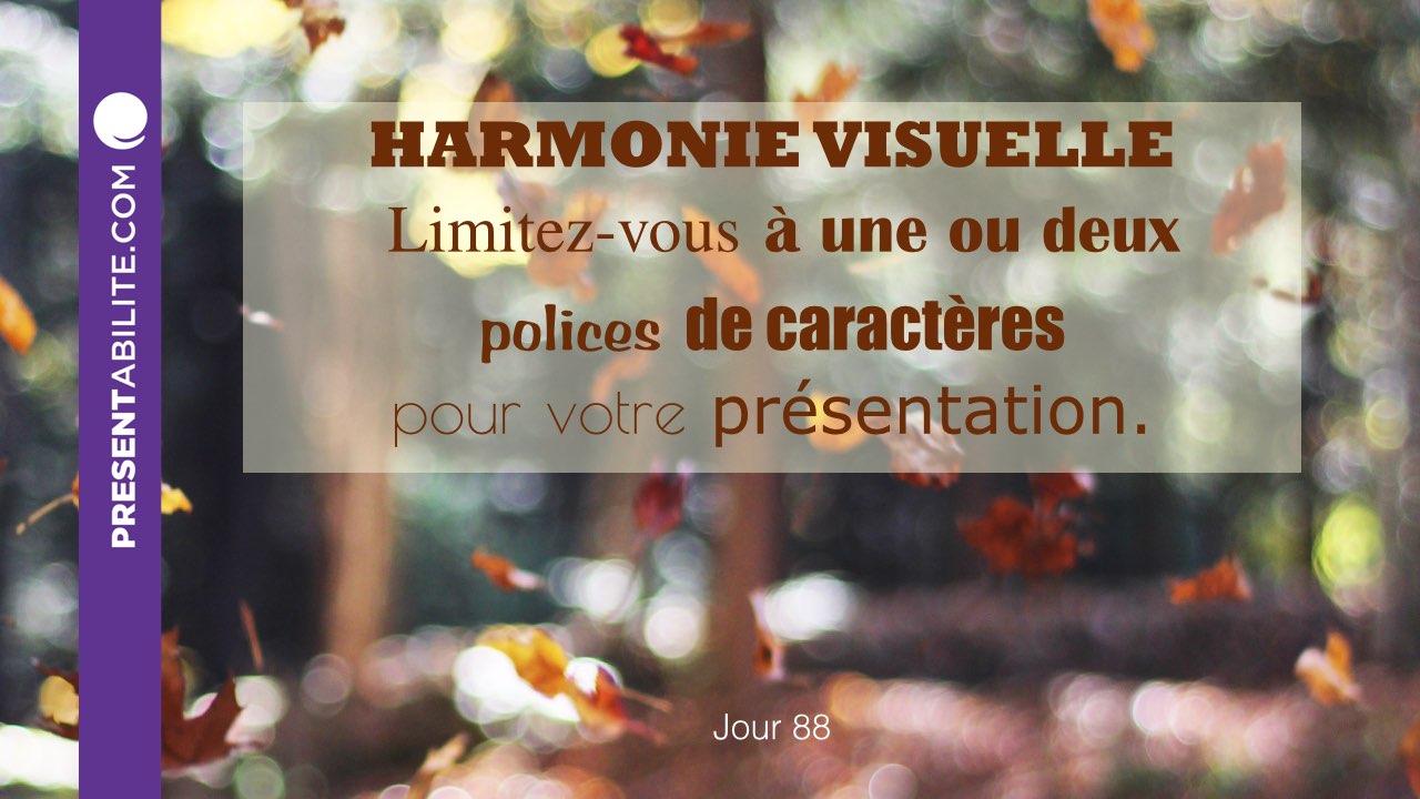harmonie visuelle limitez vous une ou deux polices de caract res pour votre pr sentation. Black Bedroom Furniture Sets. Home Design Ideas