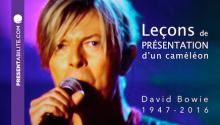 David Bowie : Leçons de présentation d'un caméléon