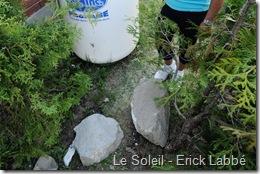 Rock falled near propan tank