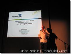Mario Asselin au Pecha Kucha | Presentability.com par: Denis Francois Gravel