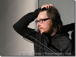 Nicolas Bernier au Pecha Kucha | Presentability.com par Denis Francois Gravel