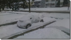 Car snow working from home