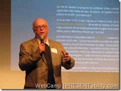 Mario Asselin au WebCamp 2010