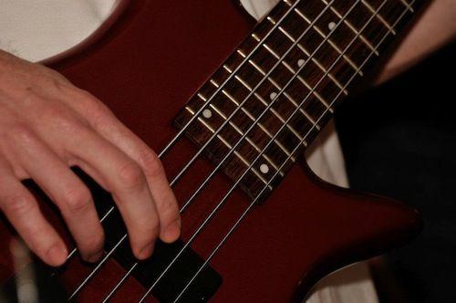 Photographie de la Bass guitar de Denis Francois Gravel | Crédits photo : Daniel Lévesque, photographe