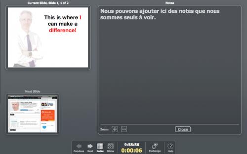 Capture d'écran LibreOffice 4 - Mode présentateur - PRESENTabilite.com