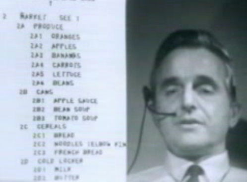 Screen shot of Douglas Engelbart 1968 presentation